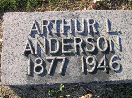 ANDERSON, ARTHUR L. - Saunders County, Nebraska   ARTHUR L. ANDERSON - Nebraska Gravestone Photos