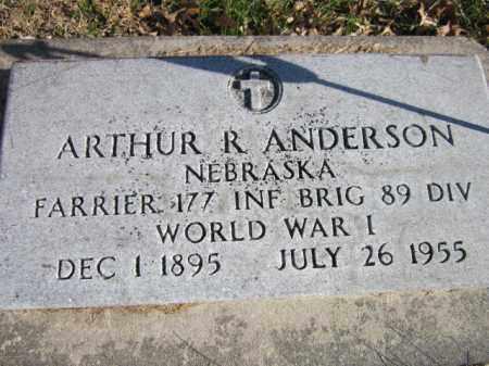 ANDERSON, ARTHUR R. (MILITARY MARKER) - Saunders County, Nebraska   ARTHUR R. (MILITARY MARKER) ANDERSON - Nebraska Gravestone Photos