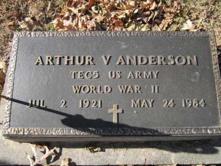 ANDERSON, ARTHUR V. (MILITARY MARKER) - Saunders County, Nebraska | ARTHUR V. (MILITARY MARKER) ANDERSON - Nebraska Gravestone Photos