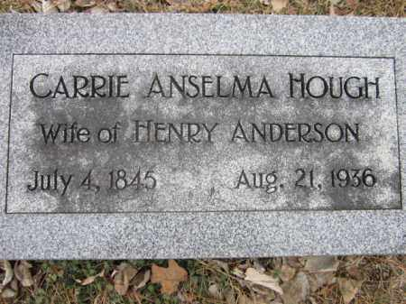 ANDERSON, CARRIE ANSELMA - Saunders County, Nebraska   CARRIE ANSELMA ANDERSON - Nebraska Gravestone Photos