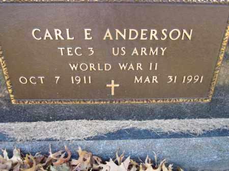 ANDERSON, CARL E. (MILITARY MARKER) - Saunders County, Nebraska | CARL E. (MILITARY MARKER) ANDERSON - Nebraska Gravestone Photos