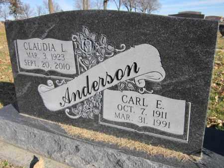 ANDERSON, CARL E. - Saunders County, Nebraska | CARL E. ANDERSON - Nebraska Gravestone Photos