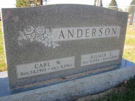 ANDERSON, CARL W. - Saunders County, Nebraska | CARL W. ANDERSON - Nebraska Gravestone Photos