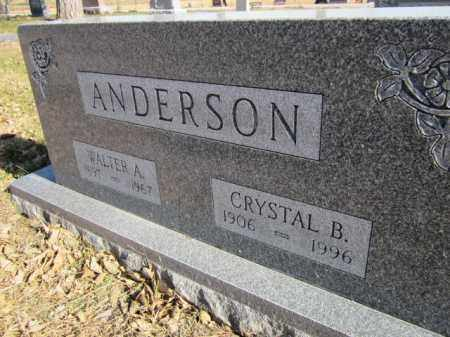ANDERSON, CRYSTAL B. - Saunders County, Nebraska | CRYSTAL B. ANDERSON - Nebraska Gravestone Photos