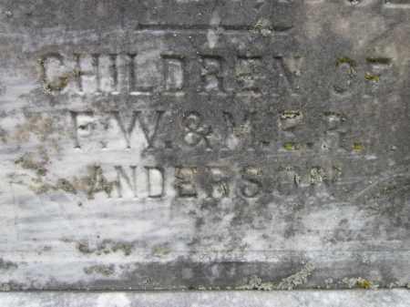 ANDERSON, CHILDREN - Saunders County, Nebraska   CHILDREN ANDERSON - Nebraska Gravestone Photos