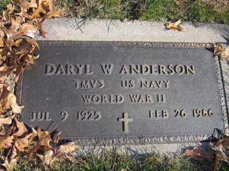 ANDERSON, DARYL W. (MILITARY MARKER) - Saunders County, Nebraska | DARYL W. (MILITARY MARKER) ANDERSON - Nebraska Gravestone Photos