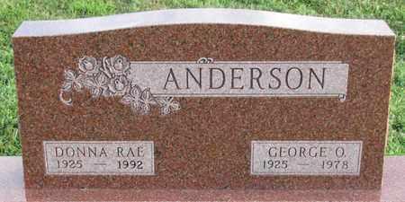 ANDERSON, DONNA RAE - Saunders County, Nebraska | DONNA RAE ANDERSON - Nebraska Gravestone Photos