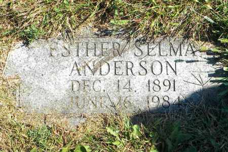 ANDERSON, ESTHER SELMA - Saunders County, Nebraska   ESTHER SELMA ANDERSON - Nebraska Gravestone Photos