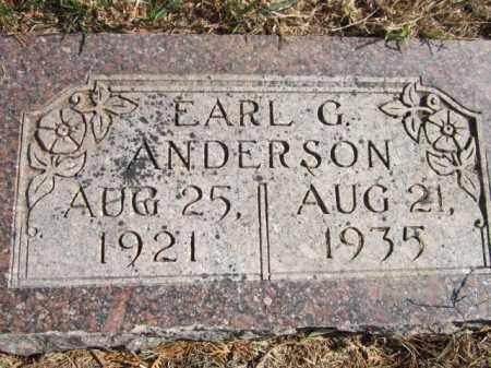 ANDERSON, EARL G. - Saunders County, Nebraska | EARL G. ANDERSON - Nebraska Gravestone Photos