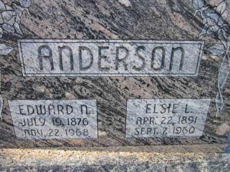 ANDERSON, EDWARD N. - Saunders County, Nebraska | EDWARD N. ANDERSON - Nebraska Gravestone Photos