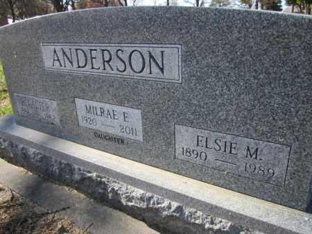 ANDERSON, ELSIE M. - Saunders County, Nebraska | ELSIE M. ANDERSON - Nebraska Gravestone Photos