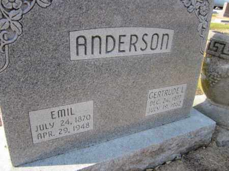ANDERSON, EMIL (CLOSE UP) - Saunders County, Nebraska | EMIL (CLOSE UP) ANDERSON - Nebraska Gravestone Photos