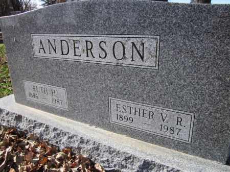 ANDERSON, ESTHER V. R. - Saunders County, Nebraska | ESTHER V. R. ANDERSON - Nebraska Gravestone Photos