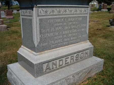ANDERSON, FREDRICK L - Saunders County, Nebraska | FREDRICK L ANDERSON - Nebraska Gravestone Photos