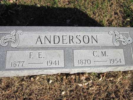 ANDERSON, F. E. - Saunders County, Nebraska | F. E. ANDERSON - Nebraska Gravestone Photos