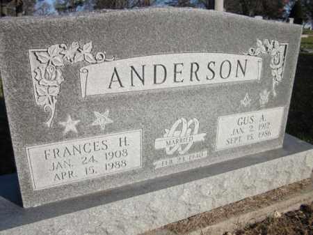 ANDERSON, GUS A. - Saunders County, Nebraska | GUS A. ANDERSON - Nebraska Gravestone Photos