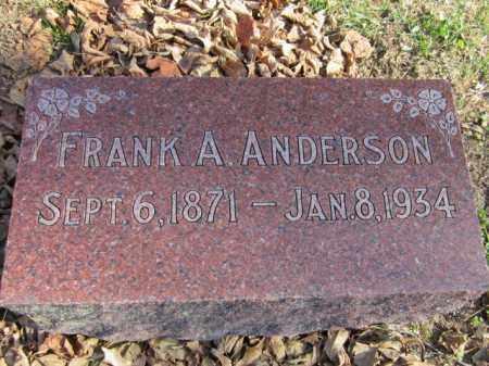 ANDERSON, FRANK A. - Saunders County, Nebraska | FRANK A. ANDERSON - Nebraska Gravestone Photos