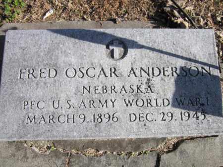 ANDERSON, FRED OSCAR (MILITARY MARKER) - Saunders County, Nebraska | FRED OSCAR (MILITARY MARKER) ANDERSON - Nebraska Gravestone Photos