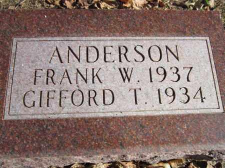 ANDERSON, FRANK T. - Saunders County, Nebraska | FRANK T. ANDERSON - Nebraska Gravestone Photos