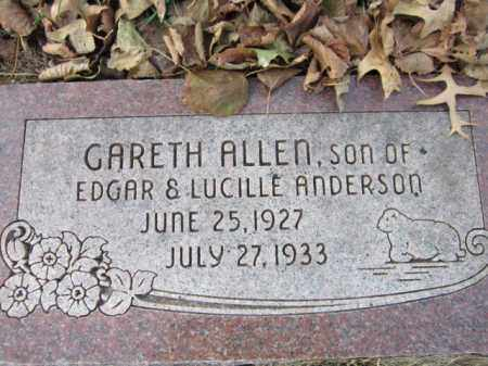 ANDERSON, GARETH ALLEN - Saunders County, Nebraska   GARETH ALLEN ANDERSON - Nebraska Gravestone Photos
