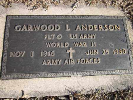 ANDERSON, GARWOOD L. (MILITARY MARKER) - Saunders County, Nebraska | GARWOOD L. (MILITARY MARKER) ANDERSON - Nebraska Gravestone Photos