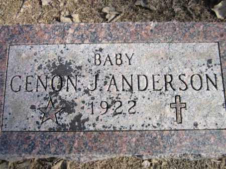 ANDERSON, GENON J. - Saunders County, Nebraska | GENON J. ANDERSON - Nebraska Gravestone Photos