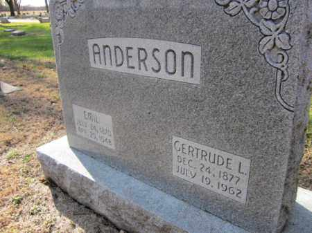 ANDERSON, GERTRUDE L. (CLOSE UP) - Saunders County, Nebraska | GERTRUDE L. (CLOSE UP) ANDERSON - Nebraska Gravestone Photos