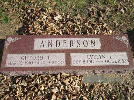 ANDERSON, GIFFORD T. - Saunders County, Nebraska | GIFFORD T. ANDERSON - Nebraska Gravestone Photos