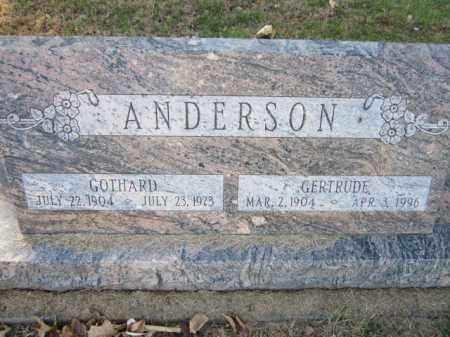 ANDERSON, GOTHARD - Saunders County, Nebraska | GOTHARD ANDERSON - Nebraska Gravestone Photos