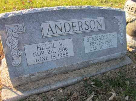ANDERSON, HELGE V. - Saunders County, Nebraska | HELGE V. ANDERSON - Nebraska Gravestone Photos