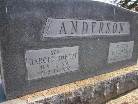 ANDERSON, HAROLD ROBERT - Saunders County, Nebraska | HAROLD ROBERT ANDERSON - Nebraska Gravestone Photos