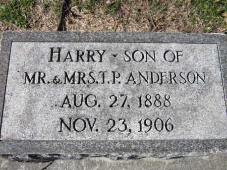 ANDERSON, HARRY - Saunders County, Nebraska | HARRY ANDERSON - Nebraska Gravestone Photos
