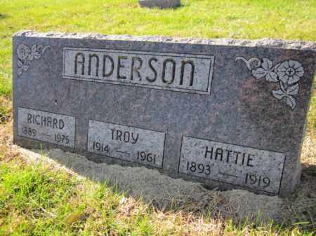 ANDERSON, HATTIE - Saunders County, Nebraska | HATTIE ANDERSON - Nebraska Gravestone Photos