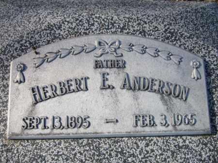 ANDERSON, HERBERT E. - Saunders County, Nebraska | HERBERT E. ANDERSON - Nebraska Gravestone Photos