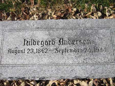 ANDERSON, HILDEGARD - Saunders County, Nebraska   HILDEGARD ANDERSON - Nebraska Gravestone Photos