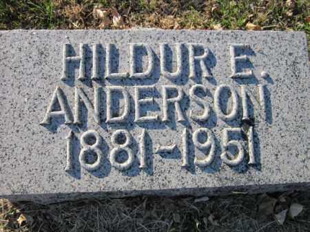 ANDERSON, HILDUR E. - Saunders County, Nebraska | HILDUR E. ANDERSON - Nebraska Gravestone Photos