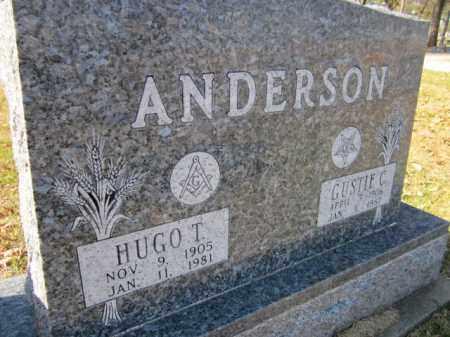 ANDERSON, HUGO T. - Saunders County, Nebraska | HUGO T. ANDERSON - Nebraska Gravestone Photos