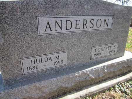 ANDERSON, HULDA M. - Saunders County, Nebraska | HULDA M. ANDERSON - Nebraska Gravestone Photos