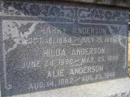 ANDERSON, HILDA (CLOSE UP) - Saunders County, Nebraska | HILDA (CLOSE UP) ANDERSON - Nebraska Gravestone Photos