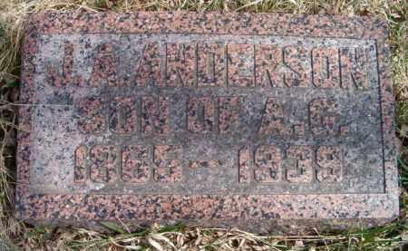 ANDERSON, J A - Saunders County, Nebraska | J A ANDERSON - Nebraska Gravestone Photos