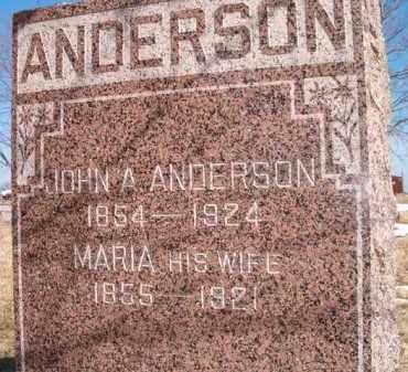 ANDERSON, JOHN A - Saunders County, Nebraska   JOHN A ANDERSON - Nebraska Gravestone Photos