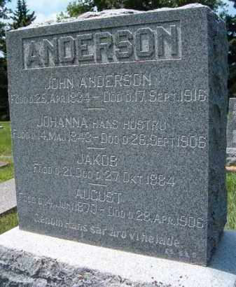 ANDERSON, JOHANNA - Saunders County, Nebraska | JOHANNA ANDERSON - Nebraska Gravestone Photos