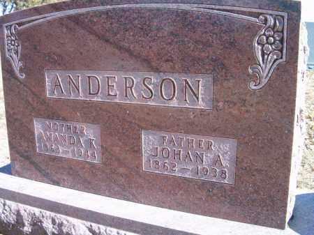 ANDERSON, JOHAN A. - Saunders County, Nebraska | JOHAN A. ANDERSON - Nebraska Gravestone Photos