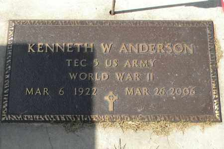 ANDERSON, KENNETH W - Saunders County, Nebraska | KENNETH W ANDERSON - Nebraska Gravestone Photos
