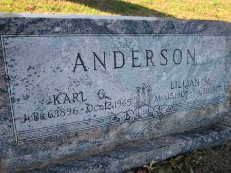 ANDERSON, KARL G. (CLOSE UP) - Saunders County, Nebraska | KARL G. (CLOSE UP) ANDERSON - Nebraska Gravestone Photos