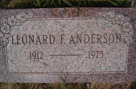 ANDERSON, LEONARD F - Saunders County, Nebraska | LEONARD F ANDERSON - Nebraska Gravestone Photos