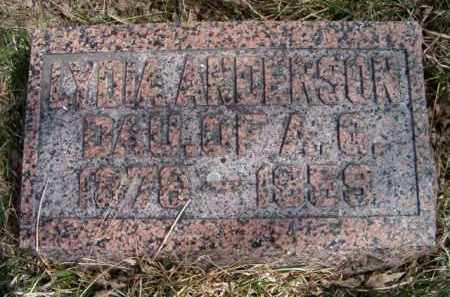 ANDERSON, LYDIA - Saunders County, Nebraska   LYDIA ANDERSON - Nebraska Gravestone Photos