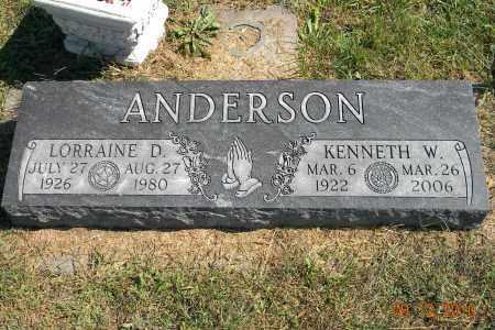ANDERSON, LORRAINE D - Saunders County, Nebraska | LORRAINE D ANDERSON - Nebraska Gravestone Photos