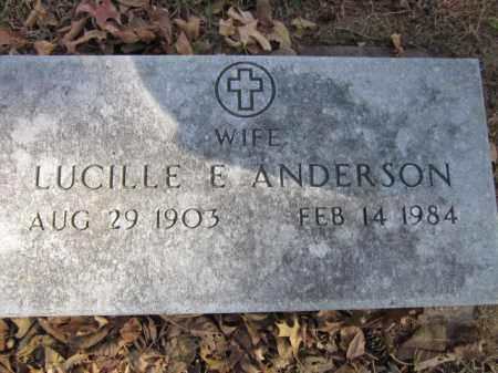 ANDERSON, LUCILLE E. - Saunders County, Nebraska | LUCILLE E. ANDERSON - Nebraska Gravestone Photos