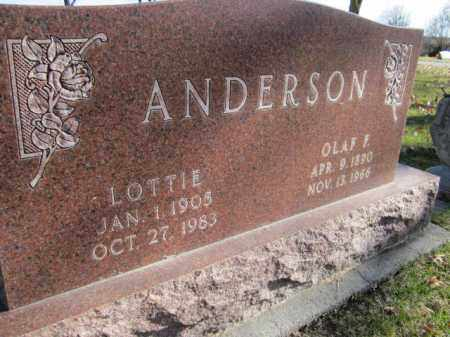 ANDERSON, LOTTIE - Saunders County, Nebraska | LOTTIE ANDERSON - Nebraska Gravestone Photos